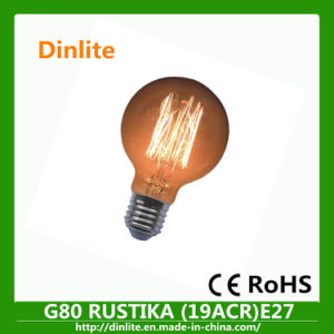 High quality G80 clear globe vintage bulb with CE&RoHS pictures & photos