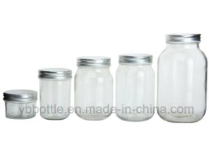 16oz/520ml Clear Round Glass Fruit Jam Jar with Silver/Goid Lid pictures & photos