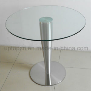 Wholesale Round Stainless Steel Base Cafe Restaurant Dining Table (SP-GT110) pictures & photos