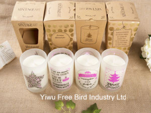 Romantic Scented Soy Gift Candle in Jars Glass pictures & photos