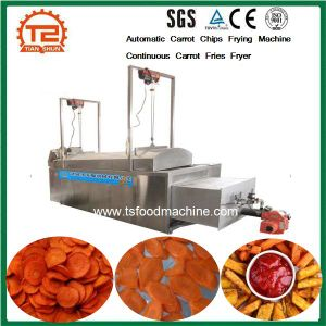 Automatic Carrot Chips Frying Machine Continuous Carrot Fries Fryer pictures & photos
