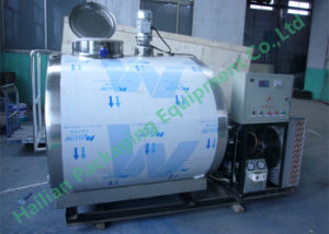 500L Stainless Steel Horizontal Milk Chiller Tank pictures & photos