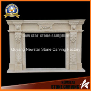 Handcraft Sculpture Marble Fireplace Mantel for Home Decoration pictures & photos
