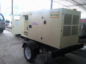 Trailer Soundproof Diesel Geneartor Generator by Perkins pictures & photos