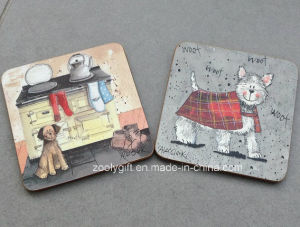 10.5 X 10.5 Square Custom Printed MDF Cup Coaster / 4mm Cork Coaster pictures & photos