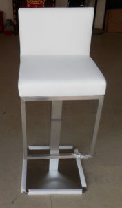 Foshan Leather High Back Without Armrest Bar Stool pictures & photos