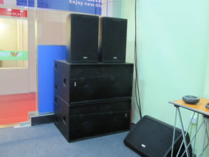 "Dual 18"" High Power Sub Woofer Professional Loudspeaker (F-218S) pictures & photos"
