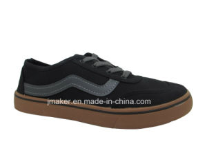China Factory Men Canvas Classical Skate Injection Shoes (J2608-M)