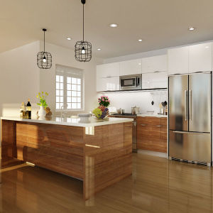 Oppein America Project Lacquer And High Gloss PVC Kitchen Cabinets  (OP14 PVC05)