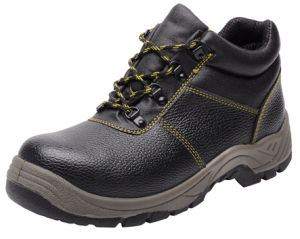 Professional Split Embossed Leather Sprots Style Safety Shoes (HQ05010-1) pictures & photos