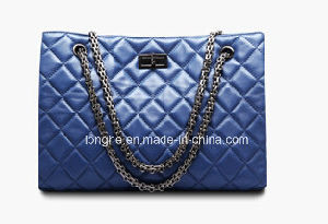 Metal Chain Strap Fashion Medium Quilted Tote Shoulder Ladies Handbags pictures & photos