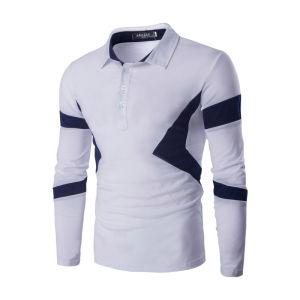 2017 Fashion Men′s Cotton Long Sleeve Polo T-Shirt (A413) pictures & photos