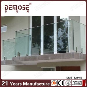 Commercial Clear Glass Terrace Railing Design (DMS-B21459)