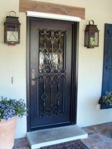 Iron Single Door with Square Top pictures & photos