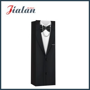 Wholesale Men′s Wine Bottle Packing Shopping Carrier Gift Paper Bag pictures & photos