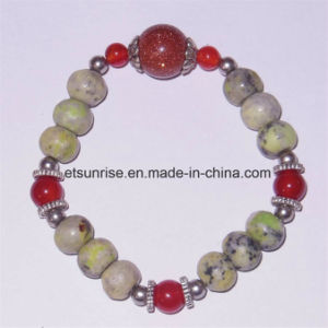 Natural Yellow Turquoise Crystal Beaded Agate Tiger Eye Bracelet Jewelry Sets pictures & photos