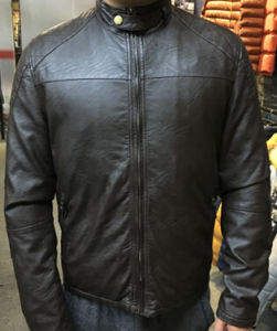 Fashion Classic Anti Black Soft PU Leather Jacket for Men (T-J01) pictures & photos