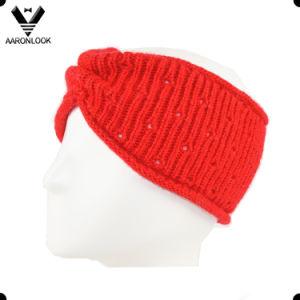 Lady Winter Acrylic Jacquard Headband Crochet Pattern pictures & photos