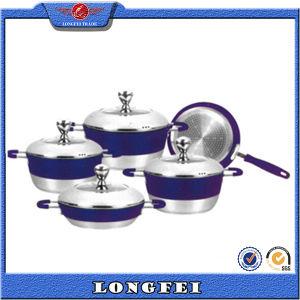 No Lampblack 5PCS Aluminum Cookware Set with Handle pictures & photos