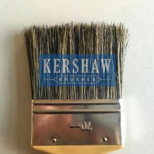 Paint Brush (paintbrush, 100% pure gray bristle flat brush with plastic handle) pictures & photos