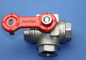 Floating Stainless Steel Thread 3 Way Ball Valve (T/L port) pictures & photos