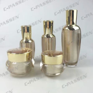 Rose-Gold Acrylic Cosmetic Bottle Cream Jar for Skincare Packaging (PPC-NEW-044) pictures & photos