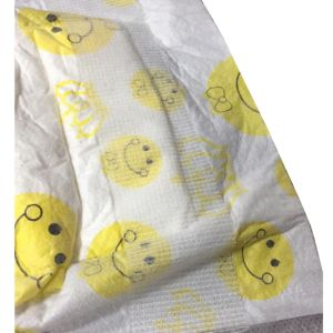 Yellow Color Cartoon Design Clothlike Backsheet Disposable Diaper pictures & photos