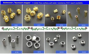 Hot Designs Drawstring Metal Custom Cylinder Shape Cord Stoppers for Garments, Handbags pictures & photos
