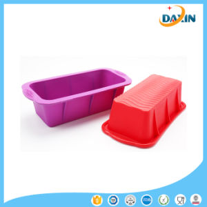BPA Free Multiunctional Food-Grade Heat Resistant Rectangular Silicone Cake Mold pictures & photos
