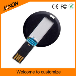 Mini Circular Plastic USB Flash Memory with Your Logo pictures & photos