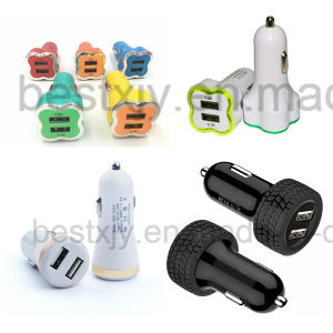 3.1A Dual USB Car Chargers for iPhone/iPad/iPod/Mobile Phone pictures & photos