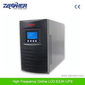Ture Online UPS 120V 220V LCD LED High Frequency Single Phase (EX1-3K TX1-3K) pictures & photos