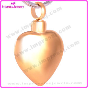 Shiny Heart Blank Steel Memorial Ashes Keepsake Urn Pendant Necklace for Family (IJD8408) pictures & photos
