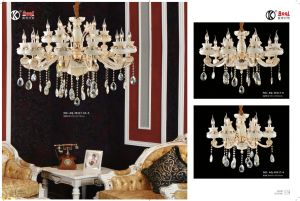 White Jade Zinc Alloy Crystal Chandelier Light pictures & photos