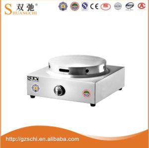 Stainless Steel 1 Plate Table Top Gas Crepe Making Machine pictures & photos