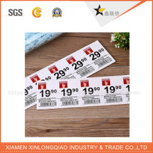 Label Printing Customized Raised Company Orange Woven Cloth Garment Label pictures & photos