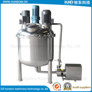 1000L Electric Heating Jacketed Emulsifying Mixing Tank with Emulsifying Pump pictures & photos