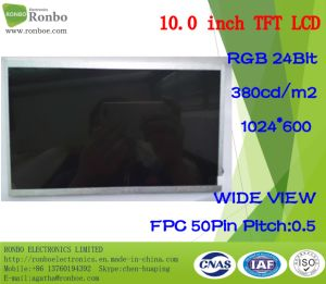 10.1 Inch 1024X600 RGB 50pin 380CD/M2 ODM Industrial LCD Panel pictures & photos