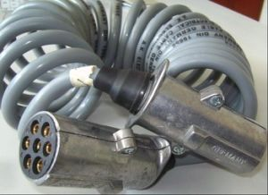 7 Core Socket Trailer Spiral Cable; Plug Truck Spiral Cable