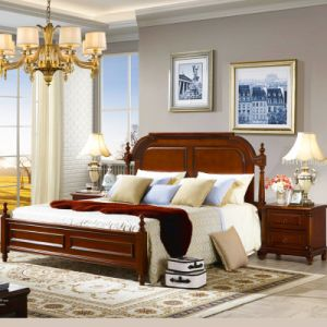 Aemerican Bedroom Furniture with Classical Bed and Antique Dresser pictures & photos