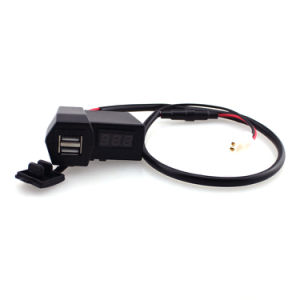12-24V Car Motorcycle Digital Voltmeter Dual USB Charger LED Display pictures & photos