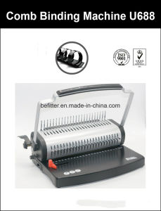 U688 U Handle F4 Size Comb Binding Machine pictures & photos