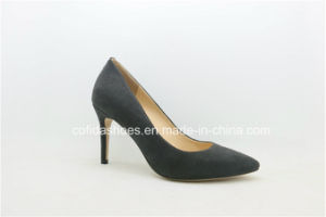 New Fashion Grey High Heels Lady Shoe pictures & photos