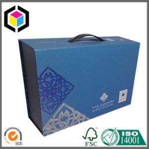 Gold Color Print Wine Beer Bottle Corrugated Packaging Box with Handle pictures & photos