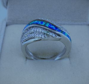 Hot Selling Silver Opal Jewelry Ring pictures & photos