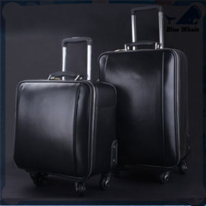 High Quality Genuine Leather Luggage Trolley Travel Luggage (Lanjing-23) pictures & photos