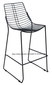 Modern Metal Dining Restaurant Stackable Side Wire Bar Chair pictures & photos