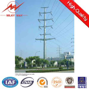 Polygonal Section Galvanized Electric Power Post pictures & photos