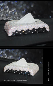 Diamond Car Seat Tissue Box Car Ornament Decoration Diamond Car Tissue Box (TBB-024) pictures & photos