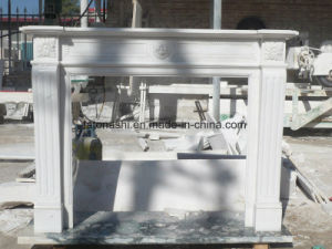 White Marble Carved Fireplace Mantel pictures & photos
